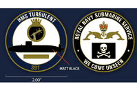HMS Turbulent Challenge Coin (with FREE name engraving)